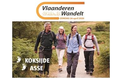 """""""Vlaanderen wandelt"""" op zondag 26 april 2020 keuze tussen Asse of Koksijde"""