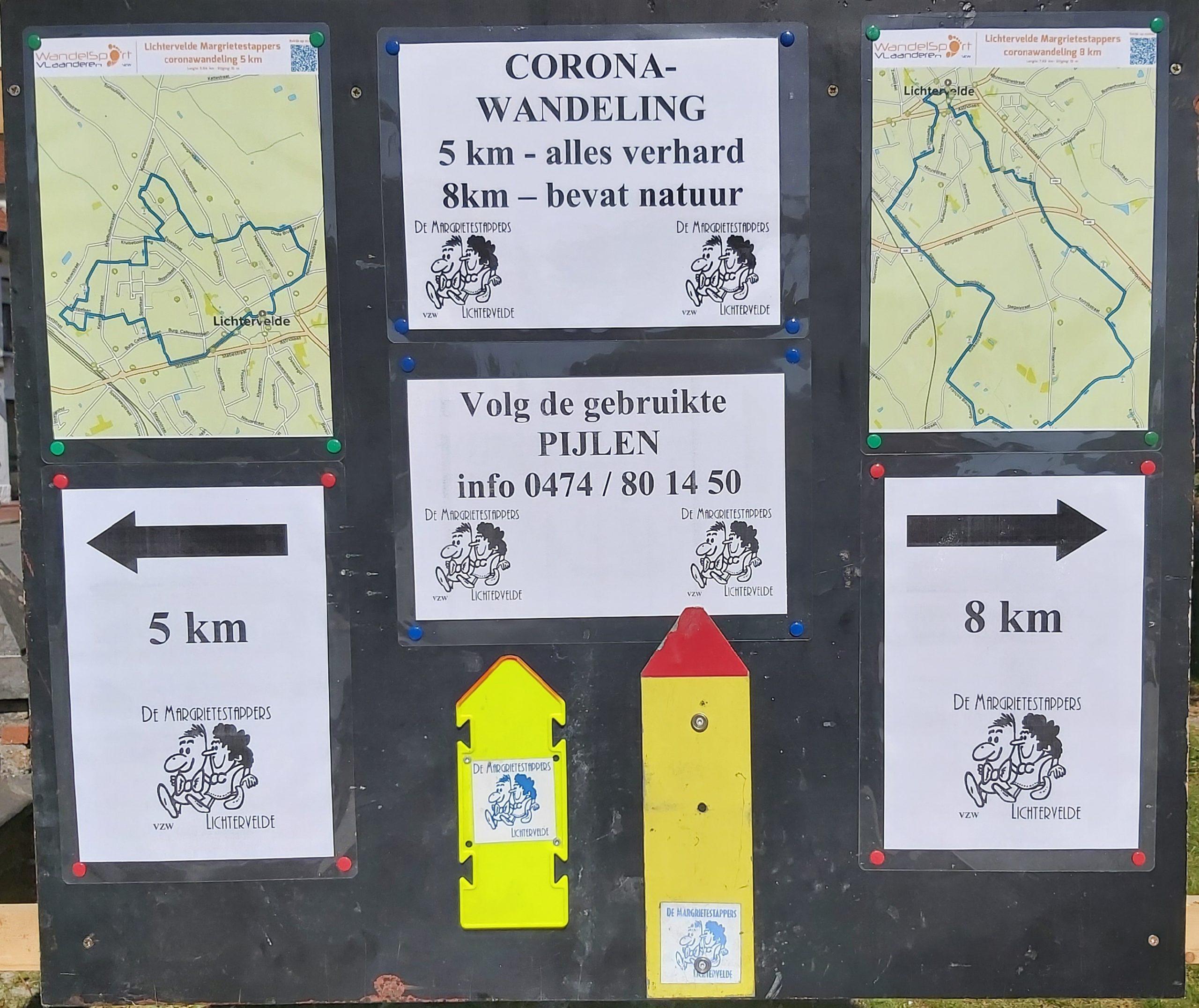 Wandelingen in coronatijd te Lichtervelde (t.e.m. wo 17 juni)